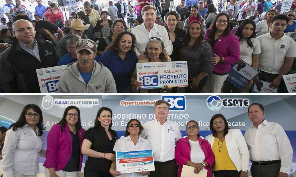 Entregó Gobernador Fancisco Vega subsidios de agua potable en beneficio de tecatenses