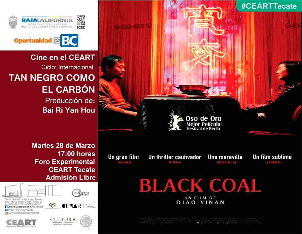 """Concluye ciclo de marzo dedicado al cine internacional con """"Tan negro como el carbón"""""""