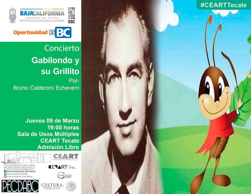 Cantarán canciones de Cri-Cri en el espectáculo Gabilondo y su Grillito