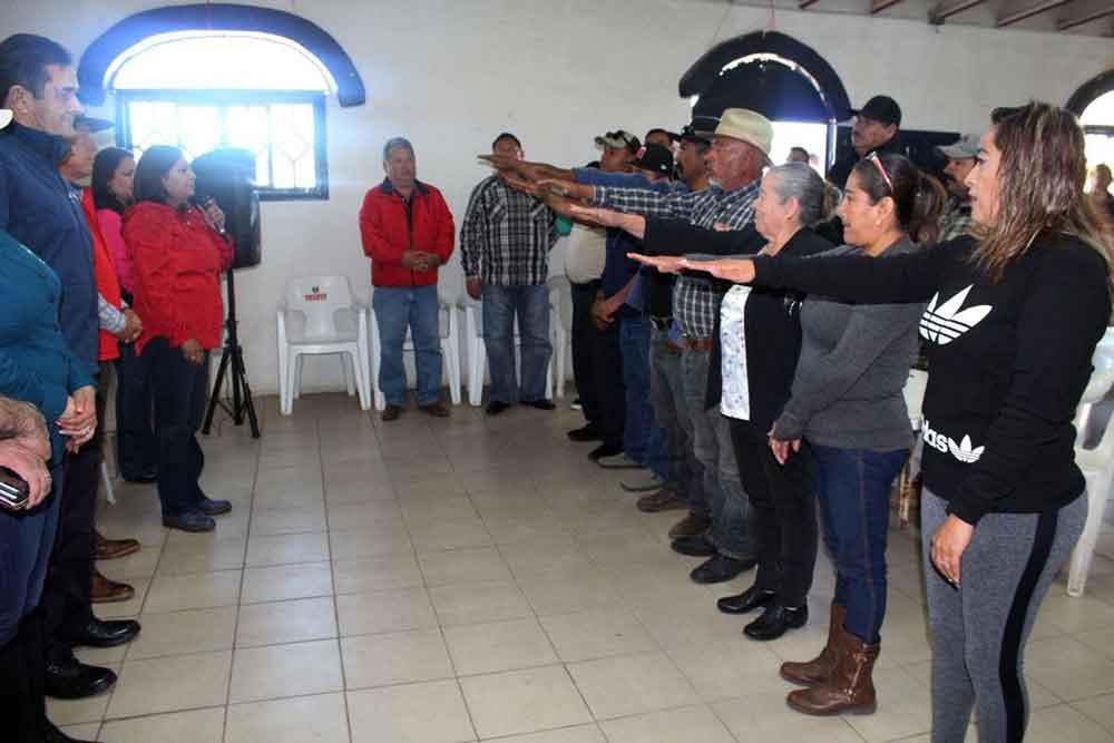 Toman protesta Comités Delegacionales en el ejido Luís Echeverría y La Rumorosa