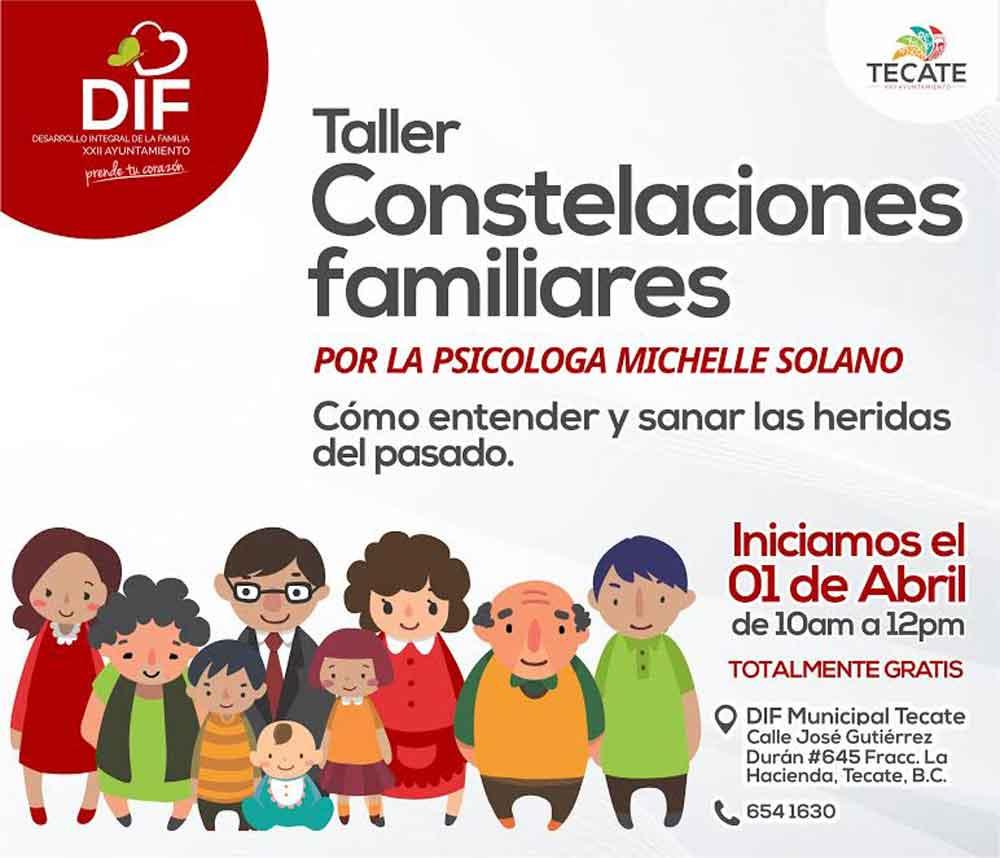 Invita DIF Tecate a taller Constelaciones Familiares