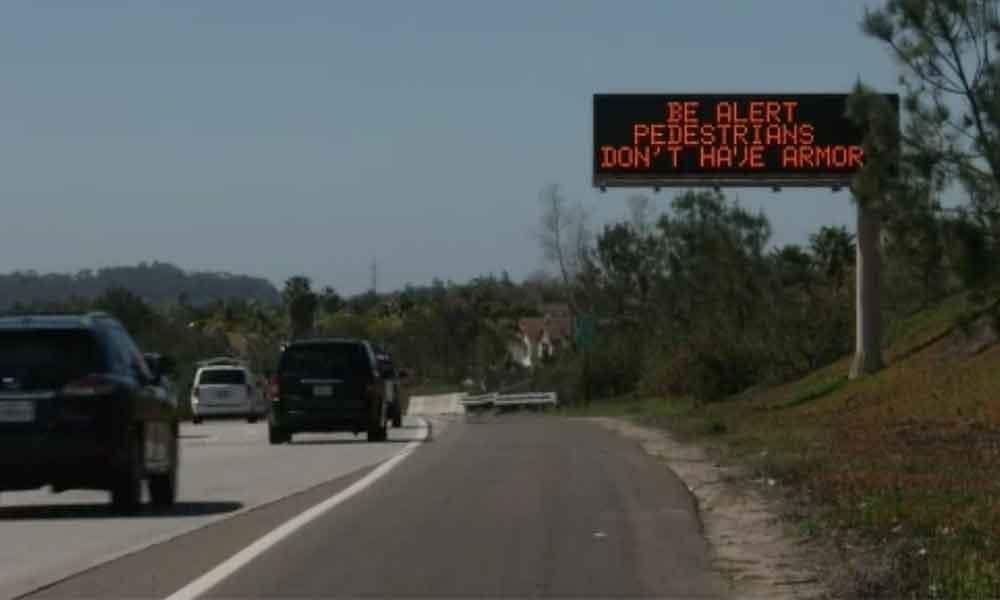"""""""Los peatones no tienen armadura"""": señalamientos alrededor de San Diego"""