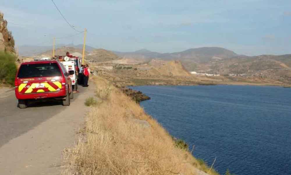 Fatal accidente en presa Abelardo L. Rodríguez; Automóvil cae siete metros