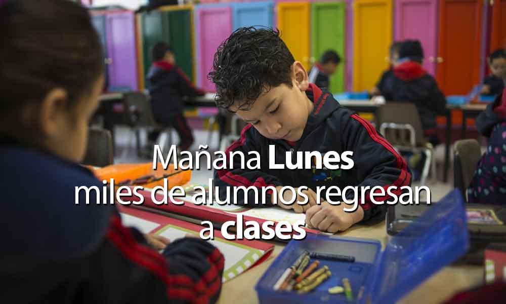 Mañana lunes 24 de abril regresan a clases más de 685 mil alumnos de educación básica en BC