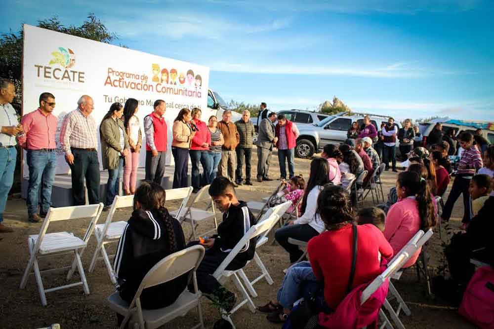 Realizan Programa de Activación Comunitaria en La Sierrita
