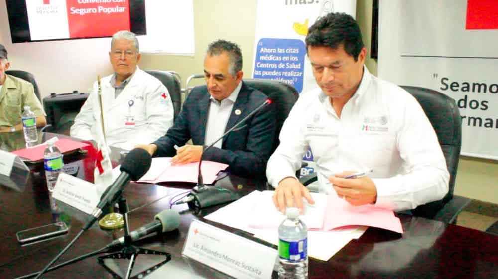 Renueva Gobierno de BC convenio con Cruz Roja en atención a afiliados del Seguro Popular