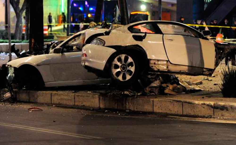 Graban a supuesto fantasma durante fatal accidente en Reforma