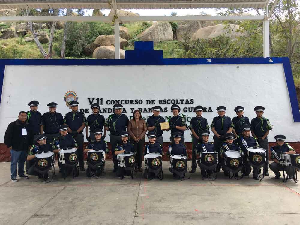 Realizan Concurso de Escoltas y Bandas de Guerra en Tecate