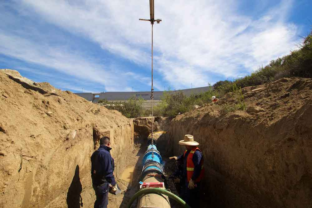 Amplía Gobierno de BC red de servicio de agua potable en zona sur de Tecate