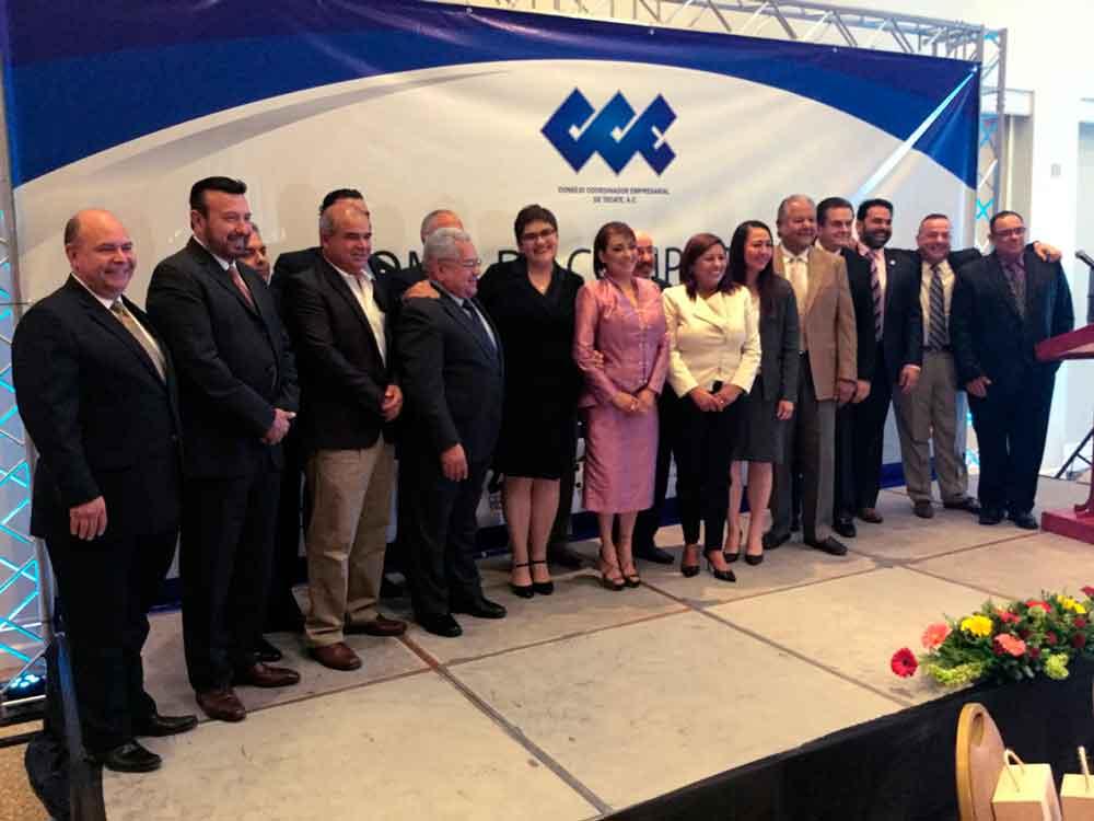 Atestigua Gobierno de BC toma de compromiso de nuevo Consejo Directivo de CCE Tecate