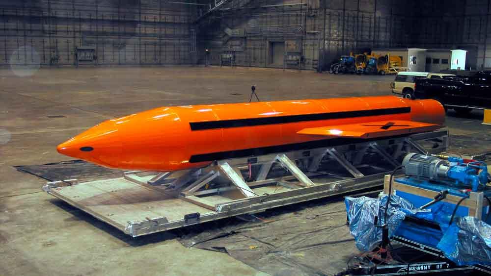 Estados Unidos lanza en Afganistán la bomba no nuclear más potente