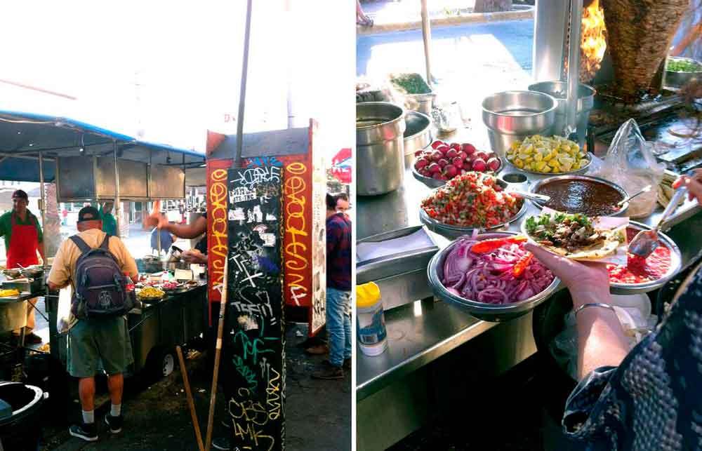 Una de las mejores taquerías en Tijuana está rodeada de prostitutas, adictos y gringos cachondos