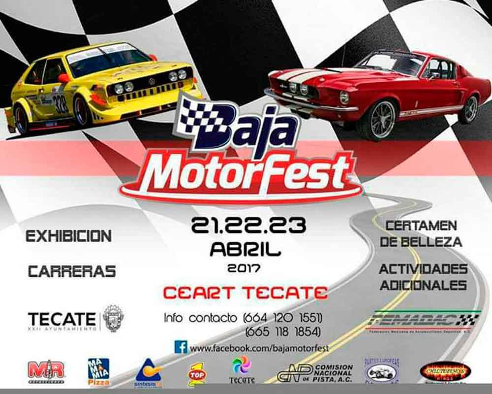 "Todo Listo para la ""Baja Motor Fest"" este Fin de Semana en Tecate"