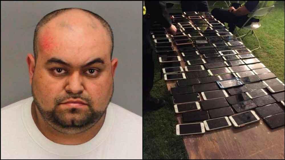 Arrestan a hombre por robar más de 100 celulares en Coachella