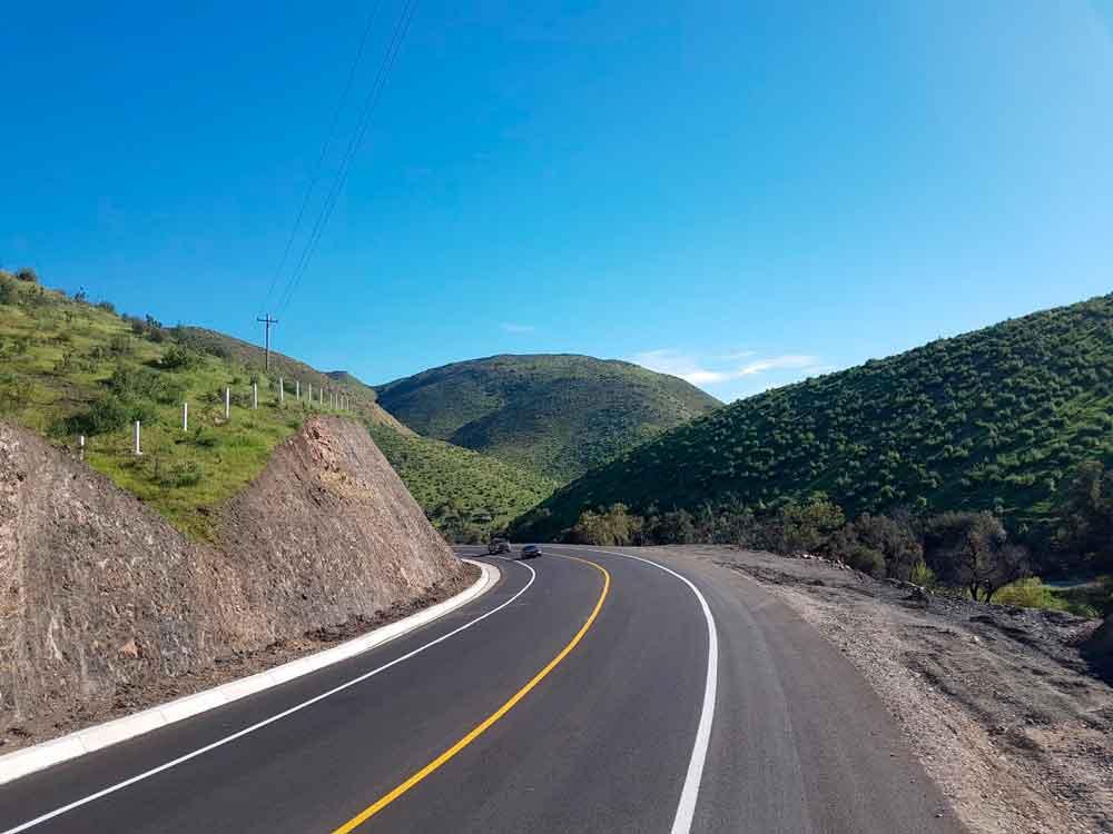 Concluye SCT modernización de la carretera Tecate-El Sauzal