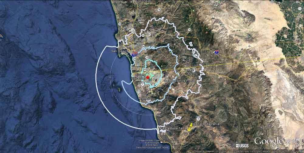 El sismo de Tijuana tuvo epicentro en la zona urbana
