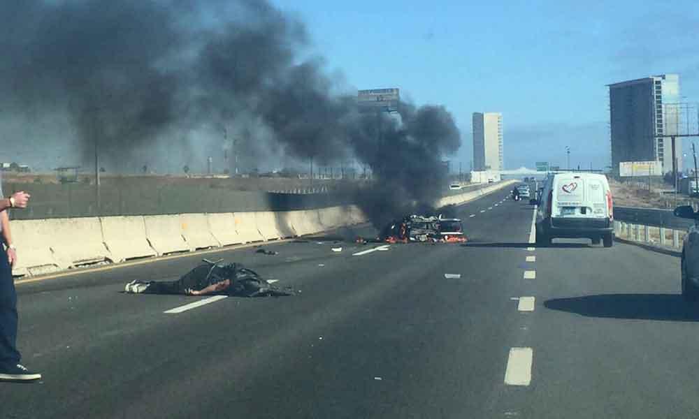 Muere joven motociclista en accidente sobre carretera Tijuana-Rosarito