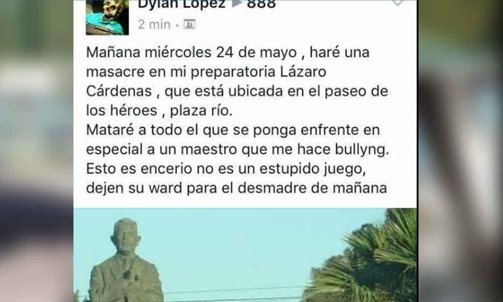 Nueva amenaza de masacre en Tijuana, esta vez en preparatoria Lázaro Cardenas