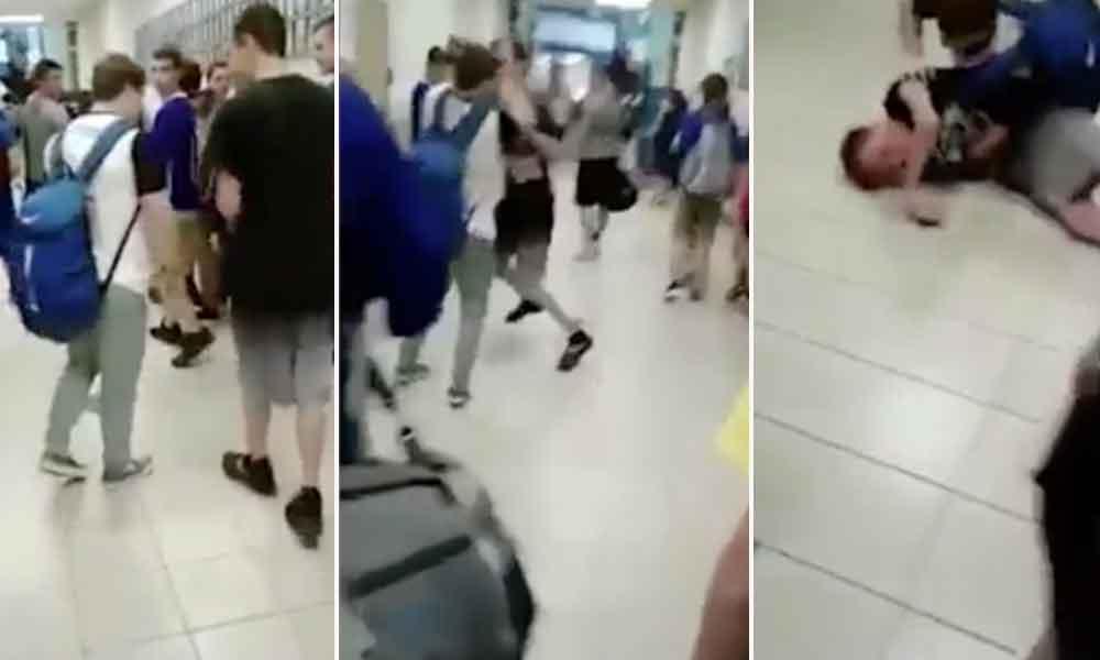 Joven hace frente a su bully y lo noquea
