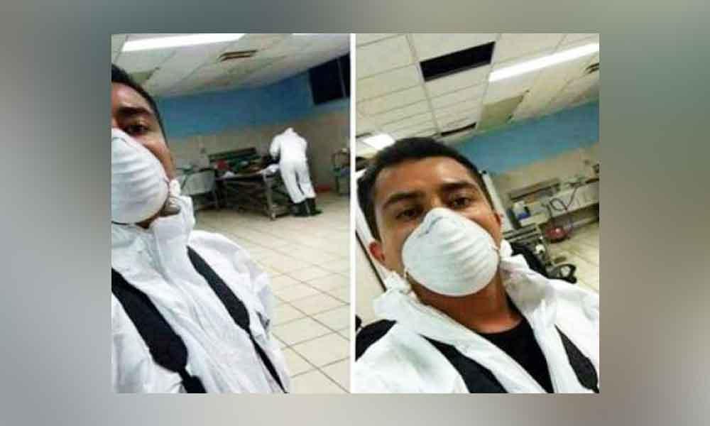"""Lo despiden por """"selfie"""" en la Semefo"""