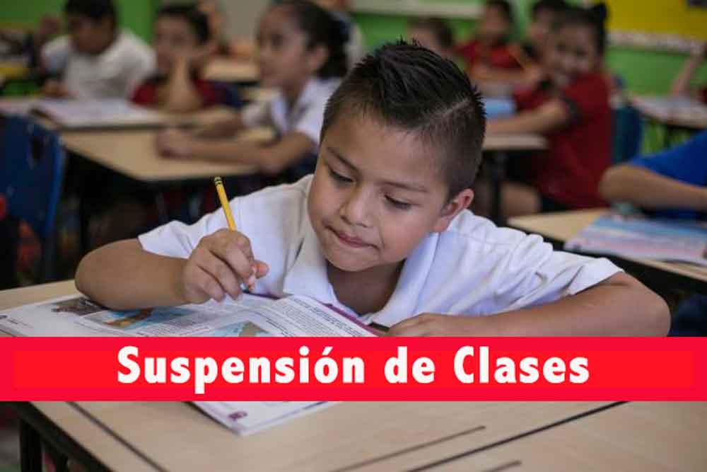 Nuevamente habrá suspensión de clases este viernes