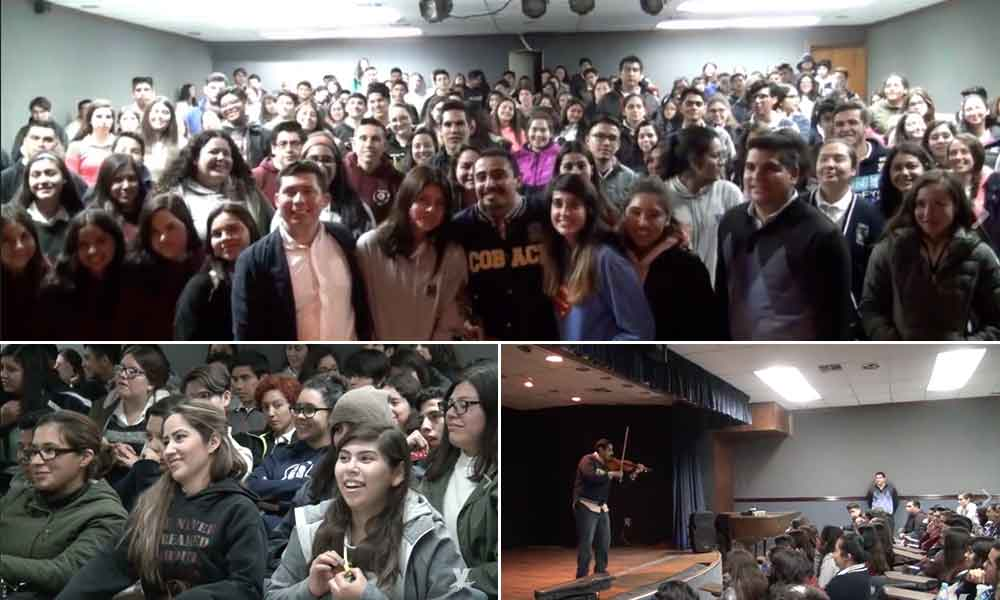Por primera vez en Tecate Tito Quiroz, promueve el derecho de identidad entre jóvenes tecatenses