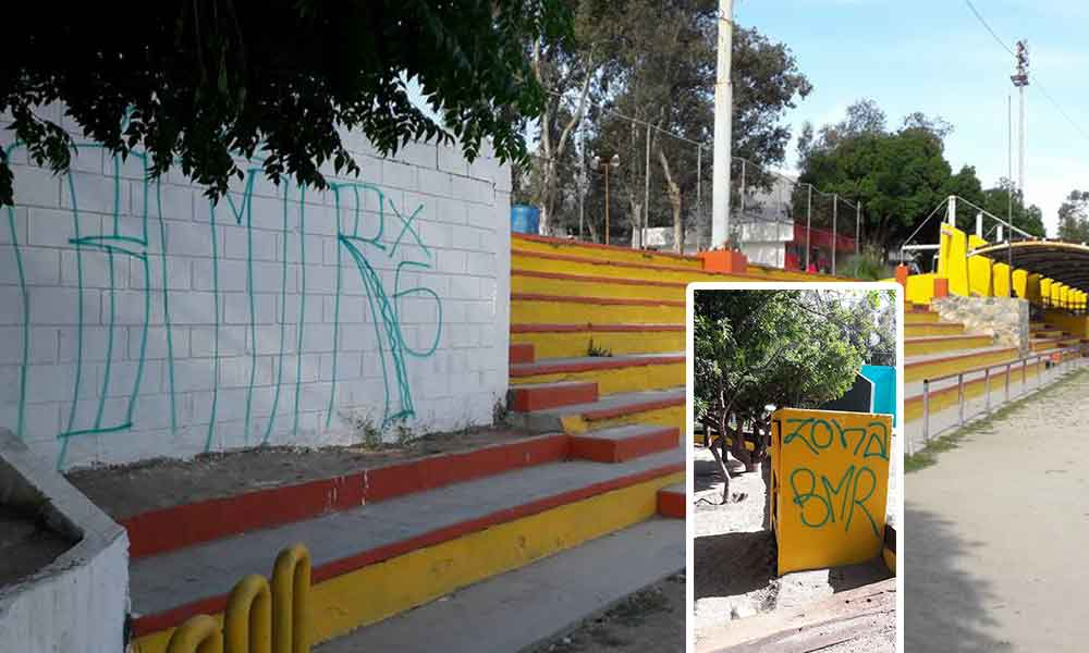 Vandalizan instalaciones del Eufrasio Santana en Tecate