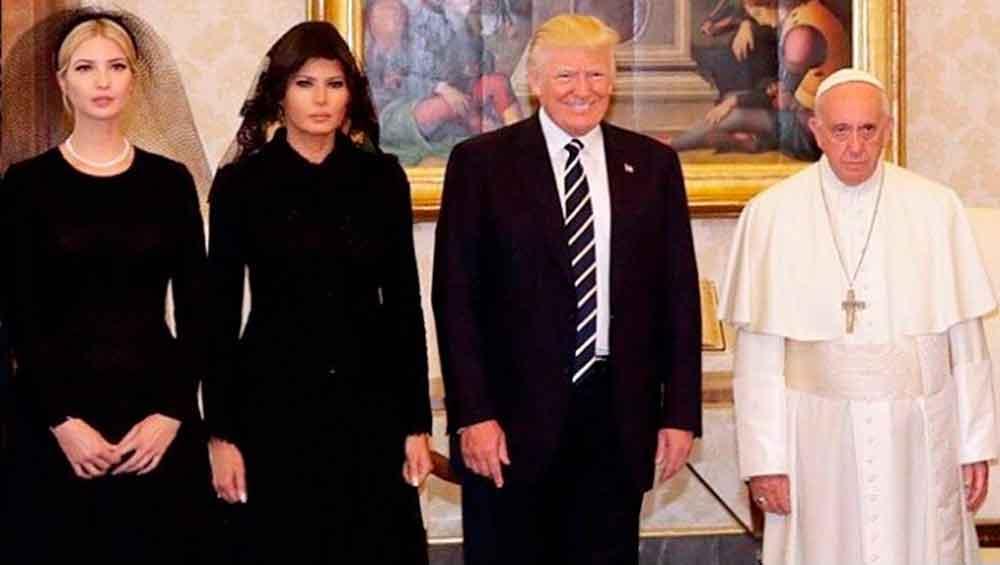 La incómoda foto del Papa Francisco con Donald Trump