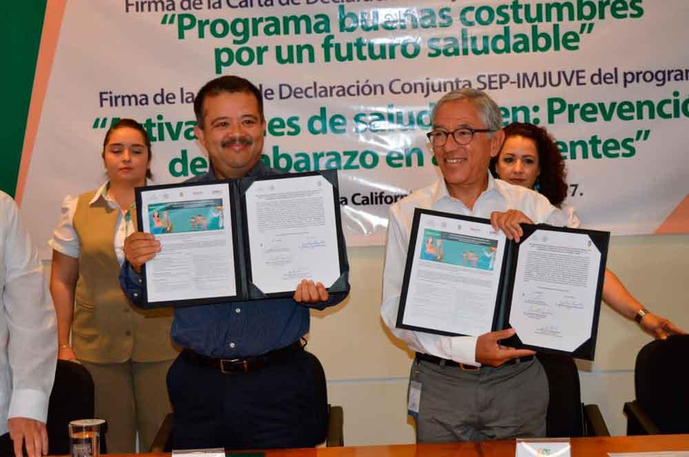 Pactan UABC y SEP por la salud de niños y adolescentes