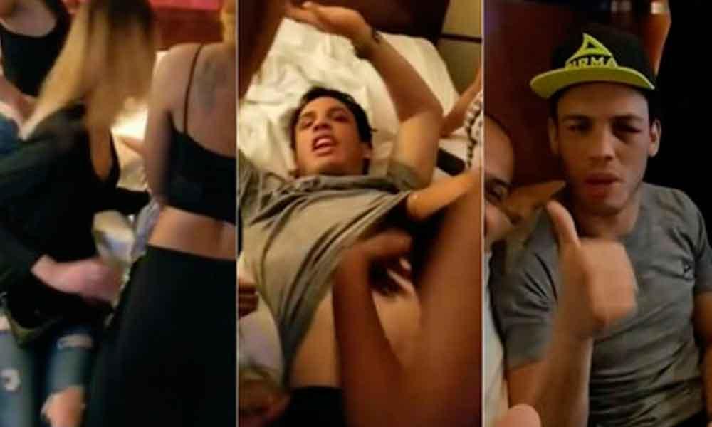 Esposa de Chávez Jr. da la cara por él tras video con mujeres