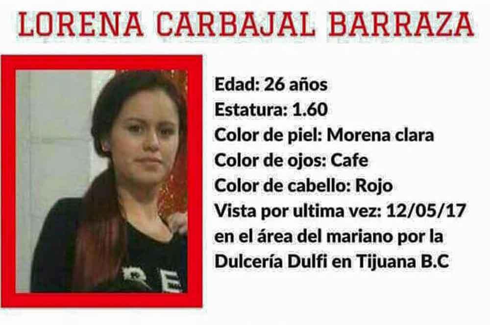 Localizan a Lorena Carbajal; decidió irse por cuenta propia