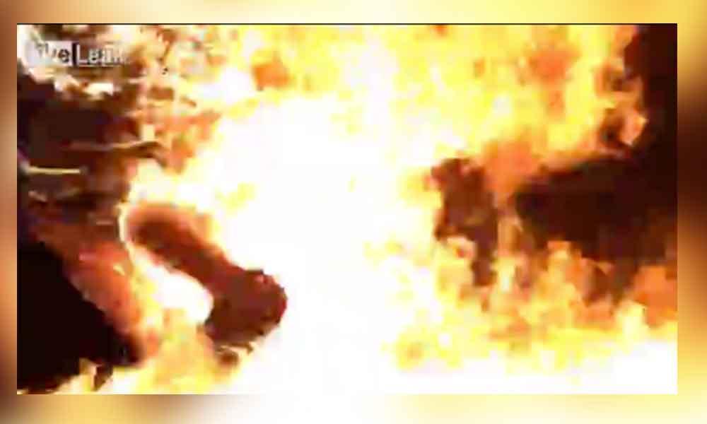 Despechado se prende fuego para dejar de sufrir
