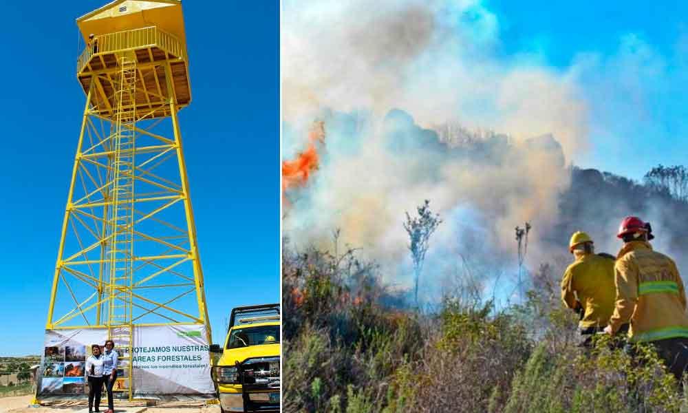 Ponen en funcionamiento torre de vigilancia y detección de incendios en Tecate