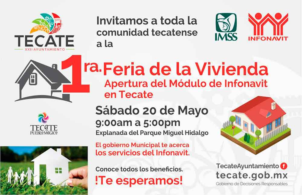 Invitan a tecatenses a Feria de la vivienda Infonavit