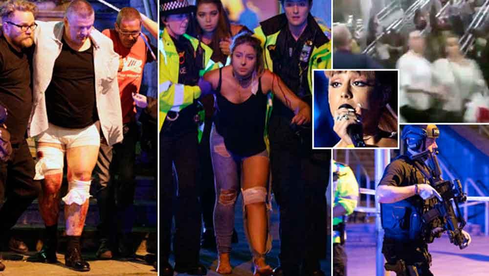 Captan en video el momento de la explosión en concierto en Manchester