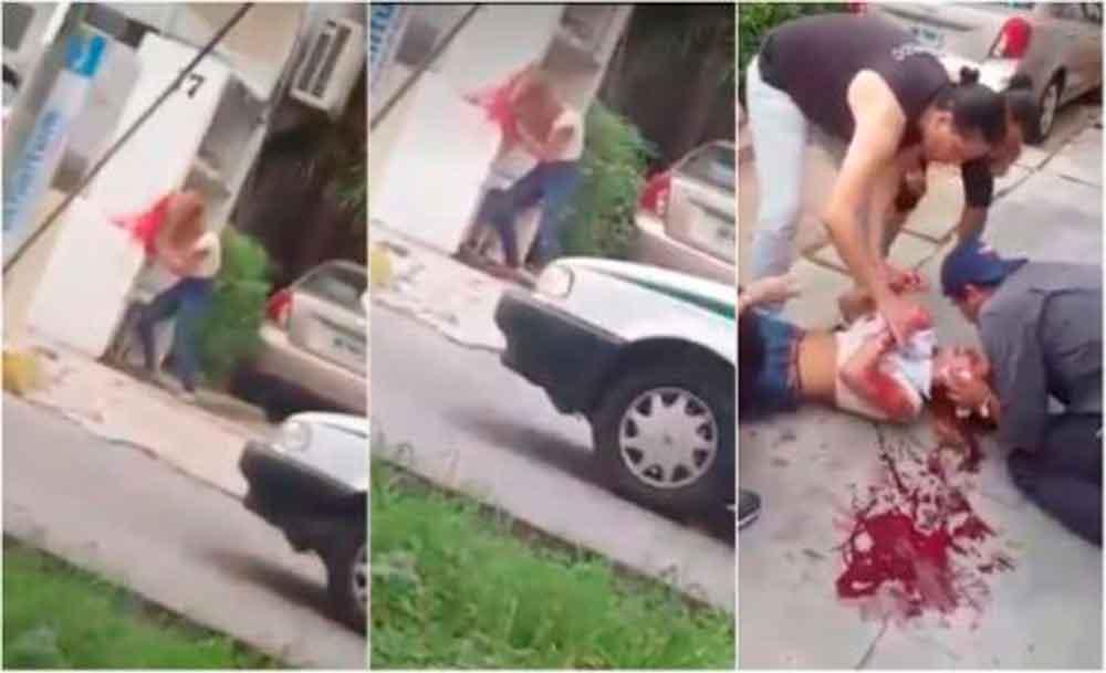 Asusta a transeúntes mujer que se autolesiona golpeandose contra la pared