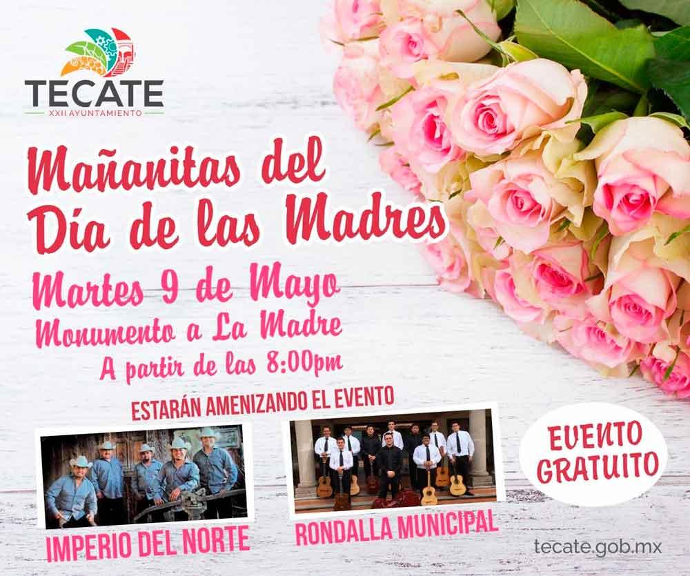 """Invitan a cantar """"las mañanitas"""" a las madres tecatenses"""