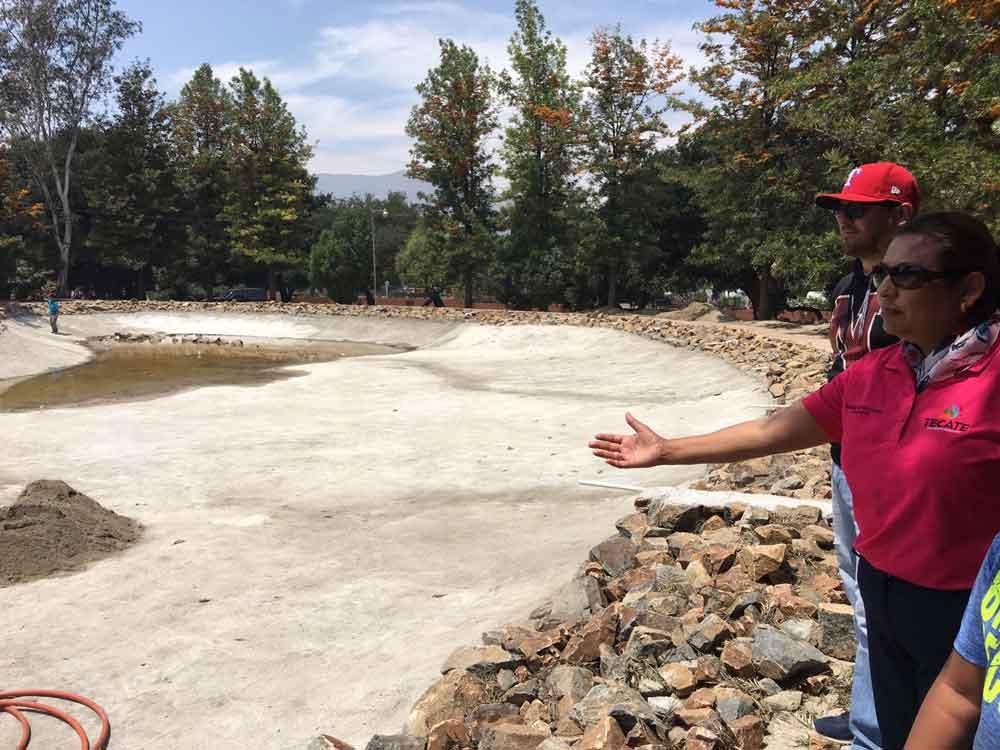 Supervisa Alcaldesa obras que están en proceso en Tecate