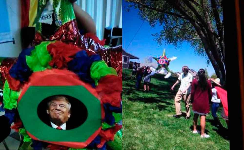 Cierran escuela de EU tras golpear piñata de Trump