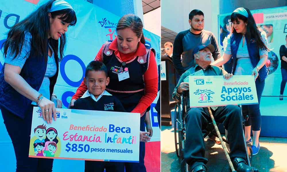 Entrega presidenta de DIF BC apoyos para estancias infantiles y sociales
