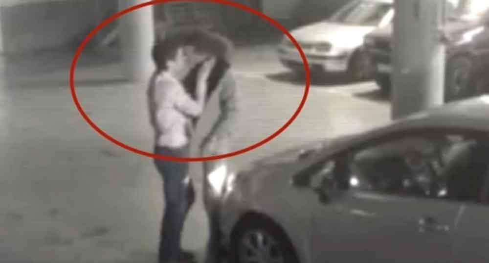 Desconocidos chocan y resuelven conflicto con beso