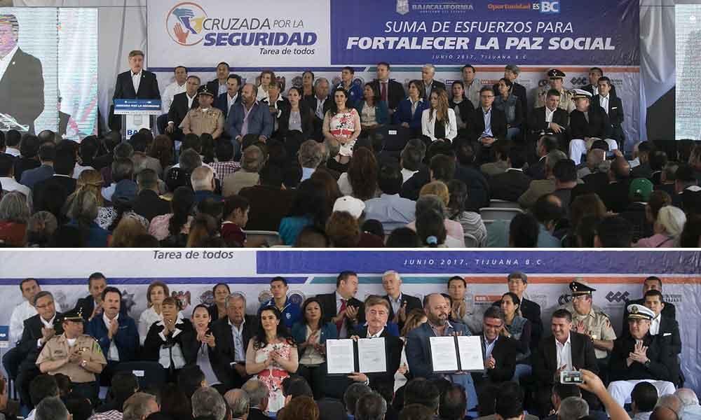 """Encabeza Gobernador Kiko Vega firma del convenio """"Cruzada por la seguridad: Tarea de todos"""""""