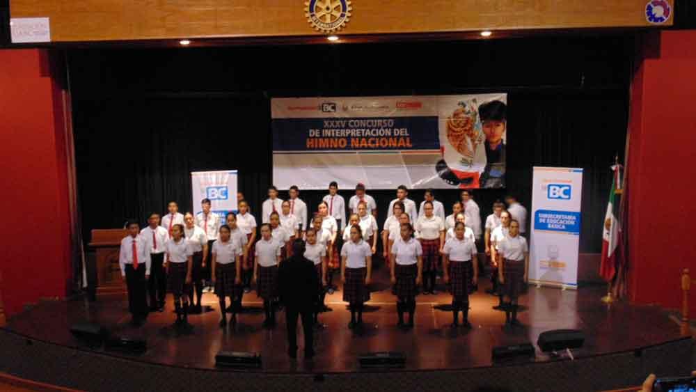 Realizan etapa Estatal de Concurso de Interpretación del himno Nacional en Tecate