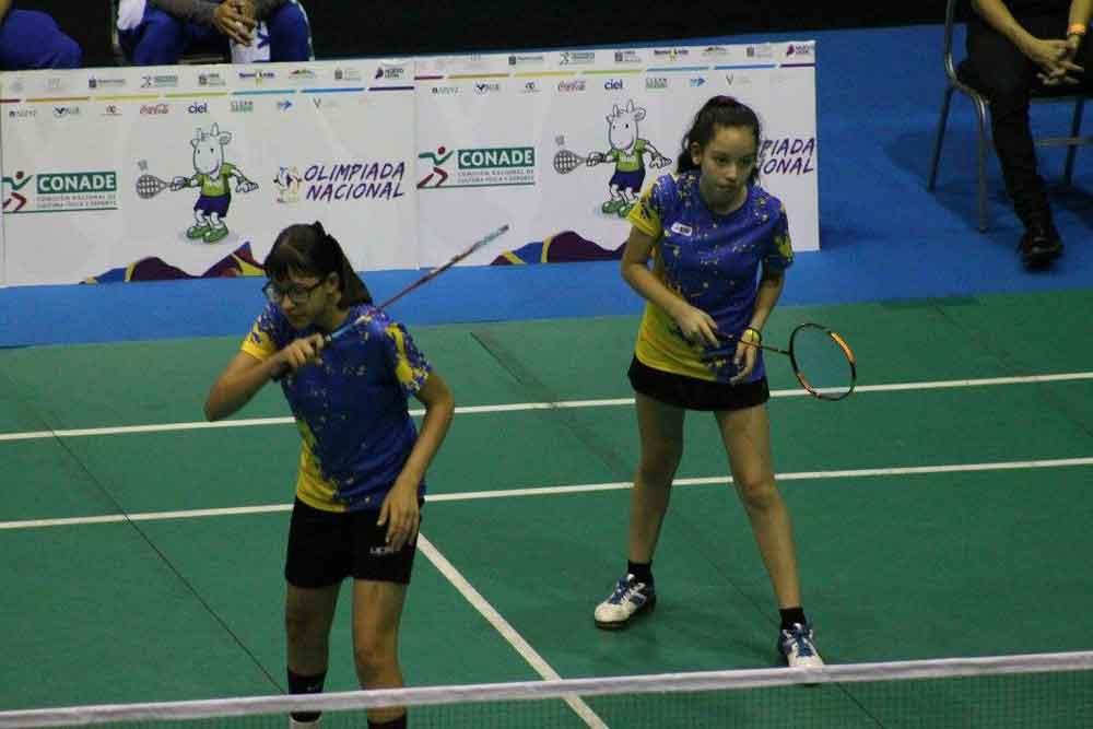 Gana BC par de oros en Olimpiada Nacional de Badminton