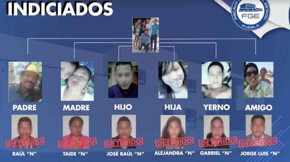 Capturan a familia dedicada al secuestro en Puebla
