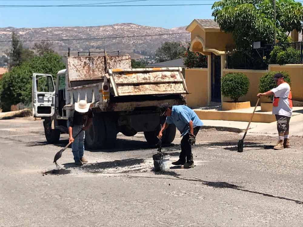 Obras Públicas fortalece programa de bacheo, alumbrado público y de limpieza