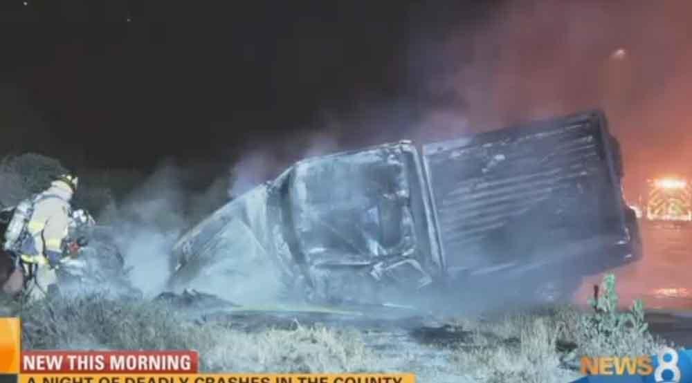 Una noche de accidentes mortales en el condado de San Diego