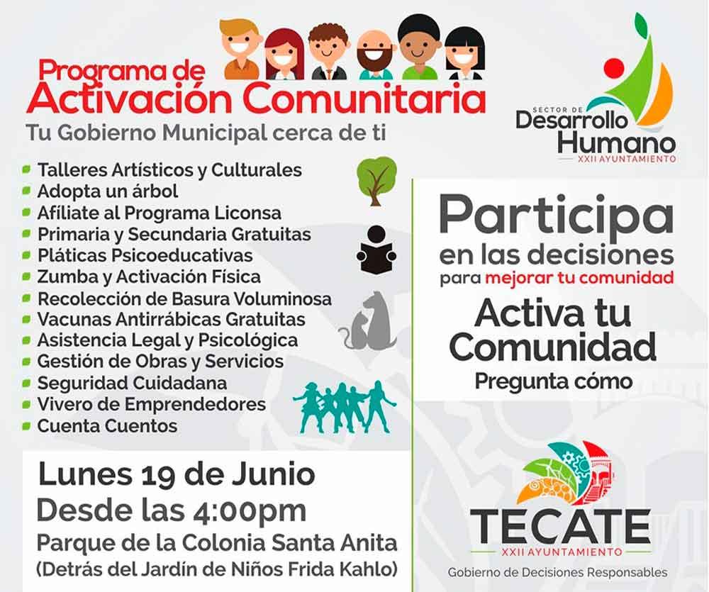 Ayuntamiento llevará el Programa de Activación Comunitaria a Santa Anita