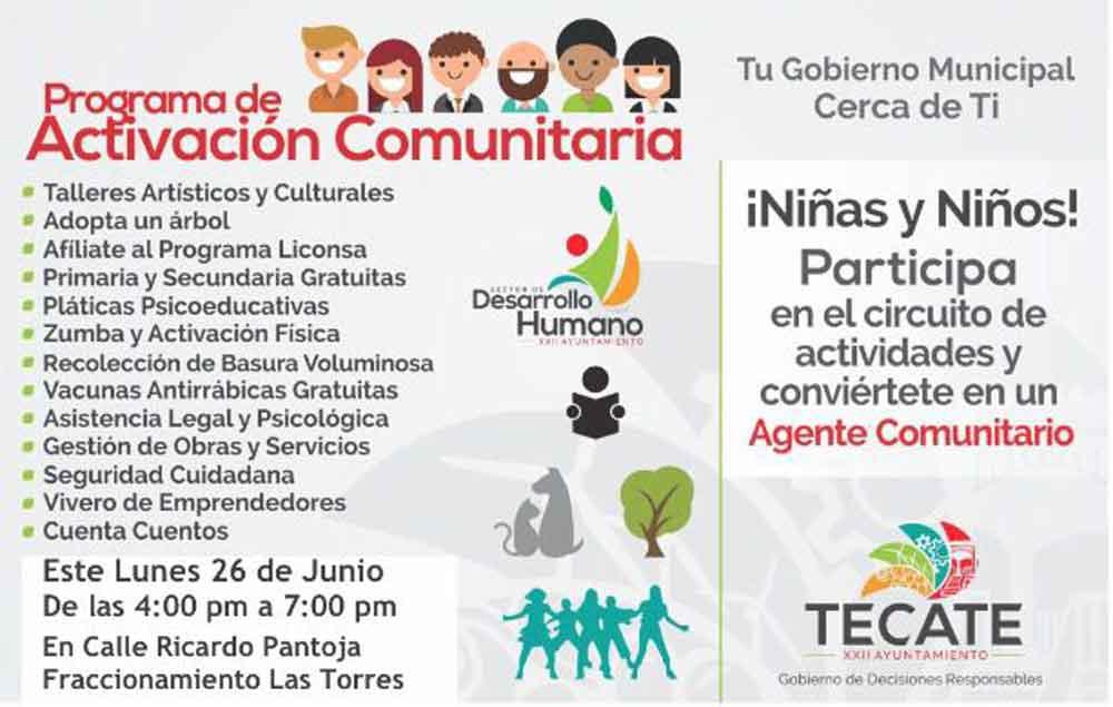 Ayuntamiento llevará el Programa de Activación Comunitaria al Fraccionamiento Las Torres