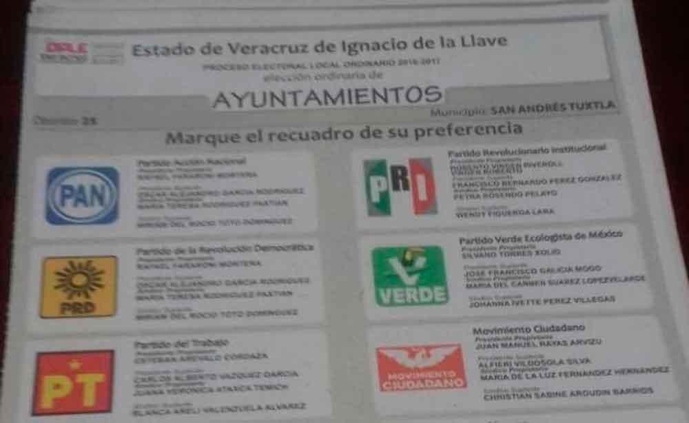 Detienen a hombre con boletas electorales en Veracruz